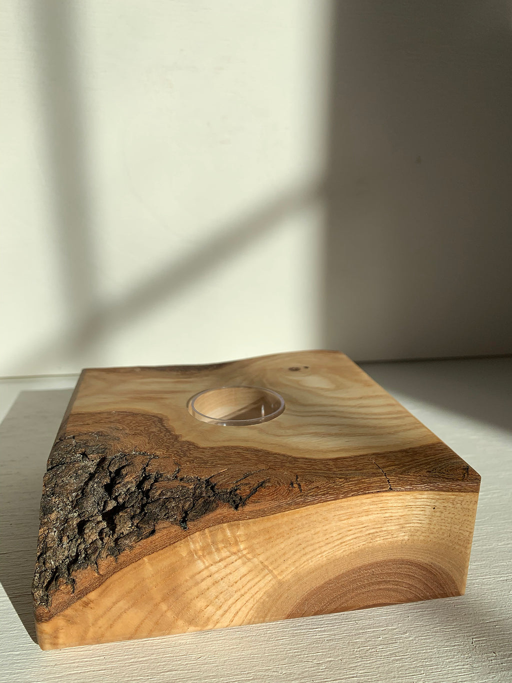 The Turning Point Live Edge Candle Holder (Ash)