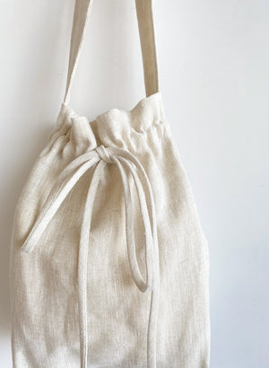 Eliza Faulkner Mini Bunni Bag (Raw Linen)