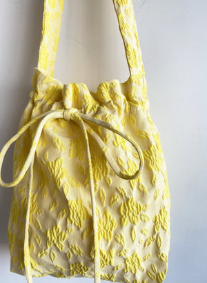 Eliza Faulkner Mini Bunni Bag (Yellow Jacquard)