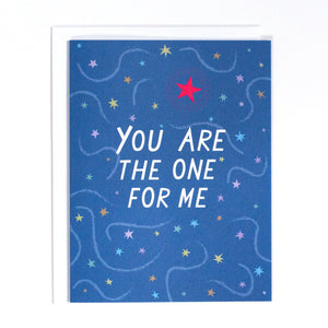Banquet Workshop You Are The One For Me Card