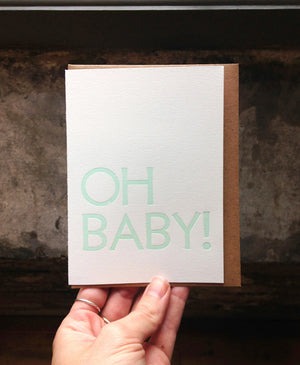 All Sorts Press Oh Baby Card