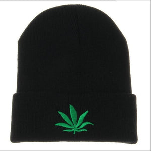 Unisex Winter Hip Hop Leaf Beanie