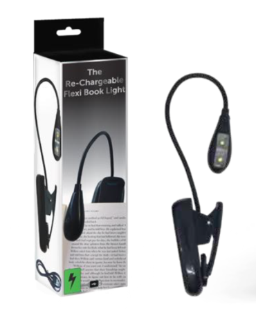 Flexible Rechargeable Booklight - Available in Black or White