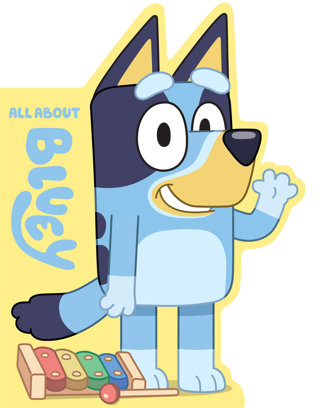 Bluey: All About Bluey A Shaped Board Book