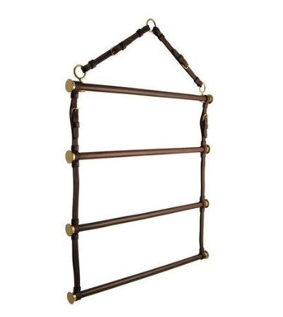Leather Blanket Rack