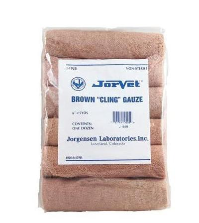 Brown Gauze - 6 Inch Roll (12 pack)