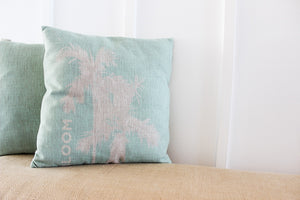 BLOOM Pillow Case in Ocean Blue