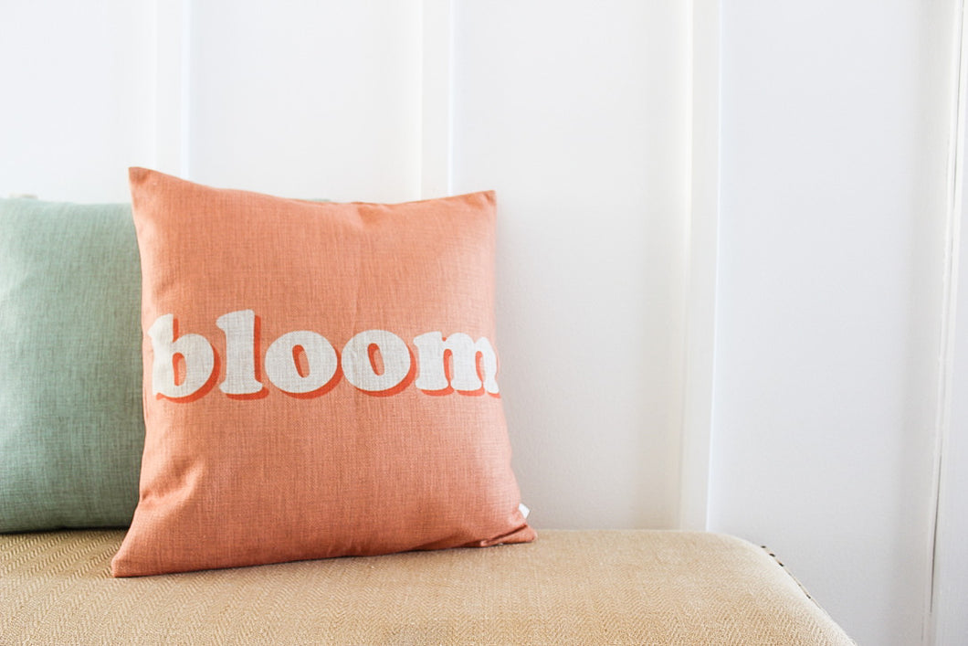 BLOOM Pillow Case in Peach