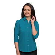 City Collection City Stretch Spot Shirt ¾ Sleeve - Womens