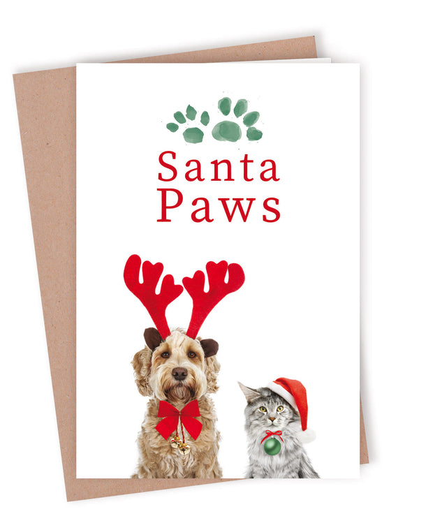Custom Printed Christmas Card Bundle - Santa Paws