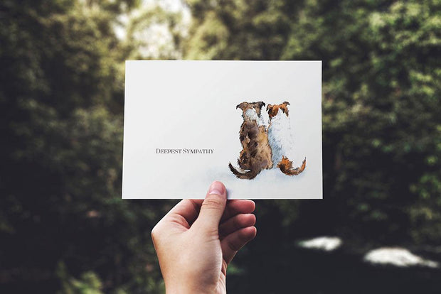 Sympathy Cards for Pets - Watercolour Series