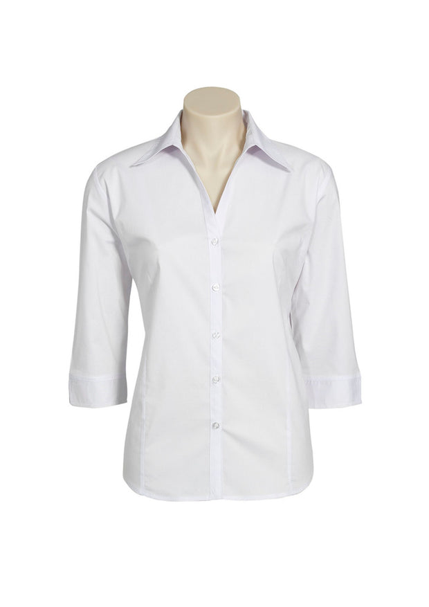 Biz Collection Metro Stretch Shirt 3/4 Sleeve - Womens