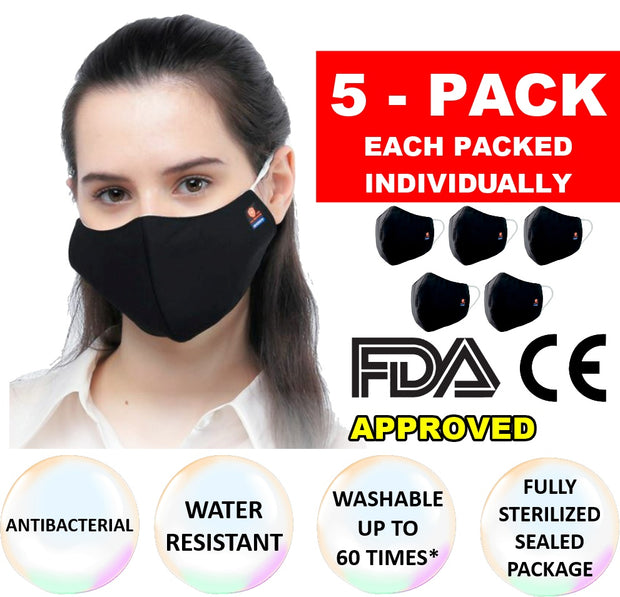 3 Layer Cloth Mask In Sterilized Bag - Wicked Flex