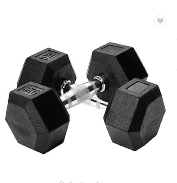 60Lbs Rubber dumbbells - Wicked Flex