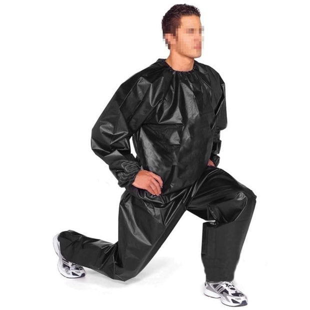 Heavy Duty Fitness Weight Loss Sweat Sauna Suit Exercise Gym Anti-Rip Black - Wicked Flex