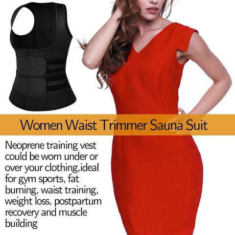 Neoprene Sweat Waist Slimming Vest - Wicked Flex