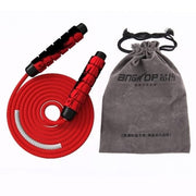 Heavy Adjustable Weighted Jump Rope Ball-Bearing Weavon Cable Foam Handle - Wicked Flex