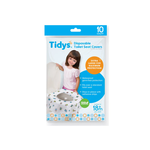 Tidys Disposable Toilet Seat Covers 10-pack