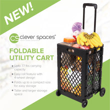 Load image into Gallery viewer, Clever Spaces Foldable Utility Cart (Tall)