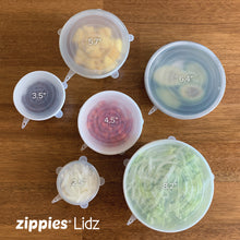 Load image into Gallery viewer, Zippies Lidz - Reusable Silicone Stretch Lids (in Box)
