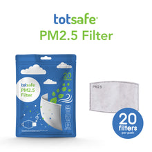 Load image into Gallery viewer, Totsafe Pm2.5 Filter Pack of 20s