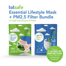 Load image into Gallery viewer, Totsafe Essential Lifestyle Mask & PM2.5 Filter 20 pcs Bundle