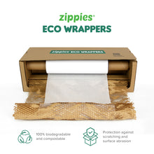 Load image into Gallery viewer, Zippies Eco Wrappers Honeycomb Kraft Roll Solo
