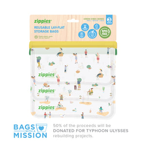 Zippies Green Vibes 3-Pc Sampler Set - Bags With A Mission