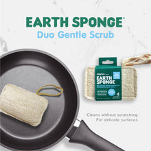 Load image into Gallery viewer, Zippies Earth Sponge Duo Gentle Scrub 4-pack