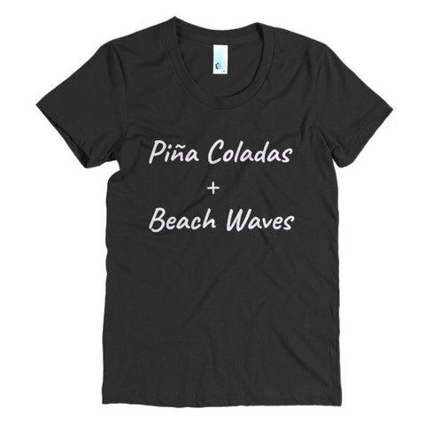 Piña Coladas + Beach Waves t-shirt - Case of the Fridays