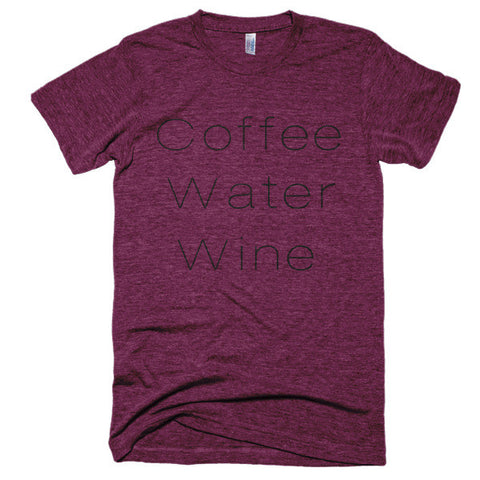 Coffee Water Wine soft t-shirt - Case of the Fridays