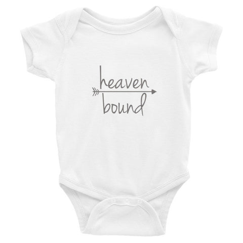 Heaven Bound  Infant short sleeve one-piece