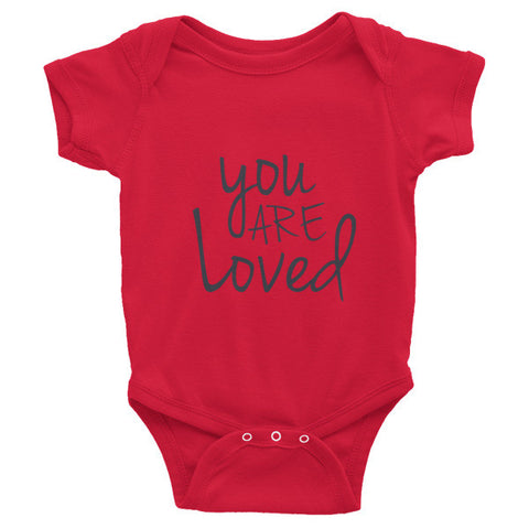 You Are Loved  Infant short sleeve one-piece - Case of the Fridays