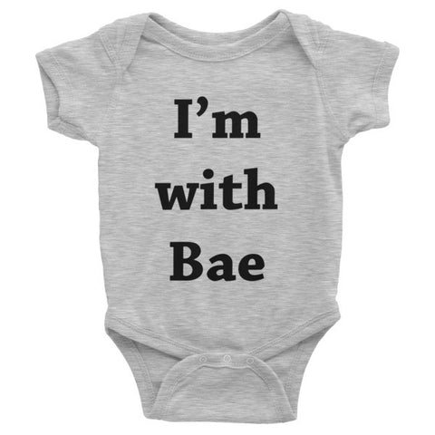 I'm With Bae Infant short sleeve one-piece - Case of the Fridays