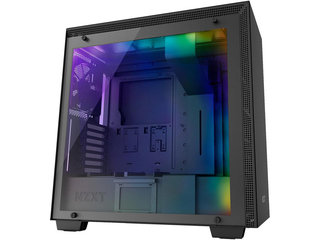 NZXT H700i - ATX Mid-Tower PC Gaming Case - CAM-Powered Smart Device - RGB and Fan Control - Tempered Glass Panel - Enhanced Cable Management System - Water-Cooling Ready - Black