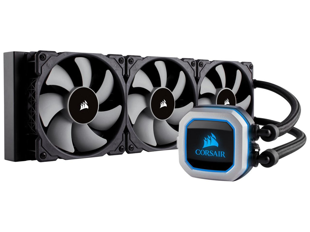 Corsair Hydro Series, H150i PRO RGB, 360mm. 3 X 120mm ML PWM Fans, Advanced RGB Lighting & Fan Control w/ Software. Liquid CPU Cooler. CW-9060031-WW. Support: Intel 2066, AMD AM4