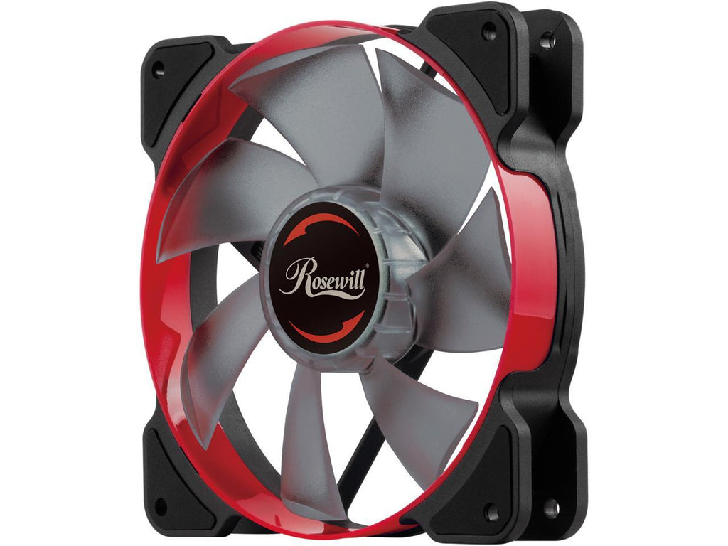 Rosewill 120mm Case Fan with Red LED and PWM (Pulse Width Modulation) Function, Very Quiet Cooling Fan From Advanced Hydraulic Bearing, Model RWCR-1612