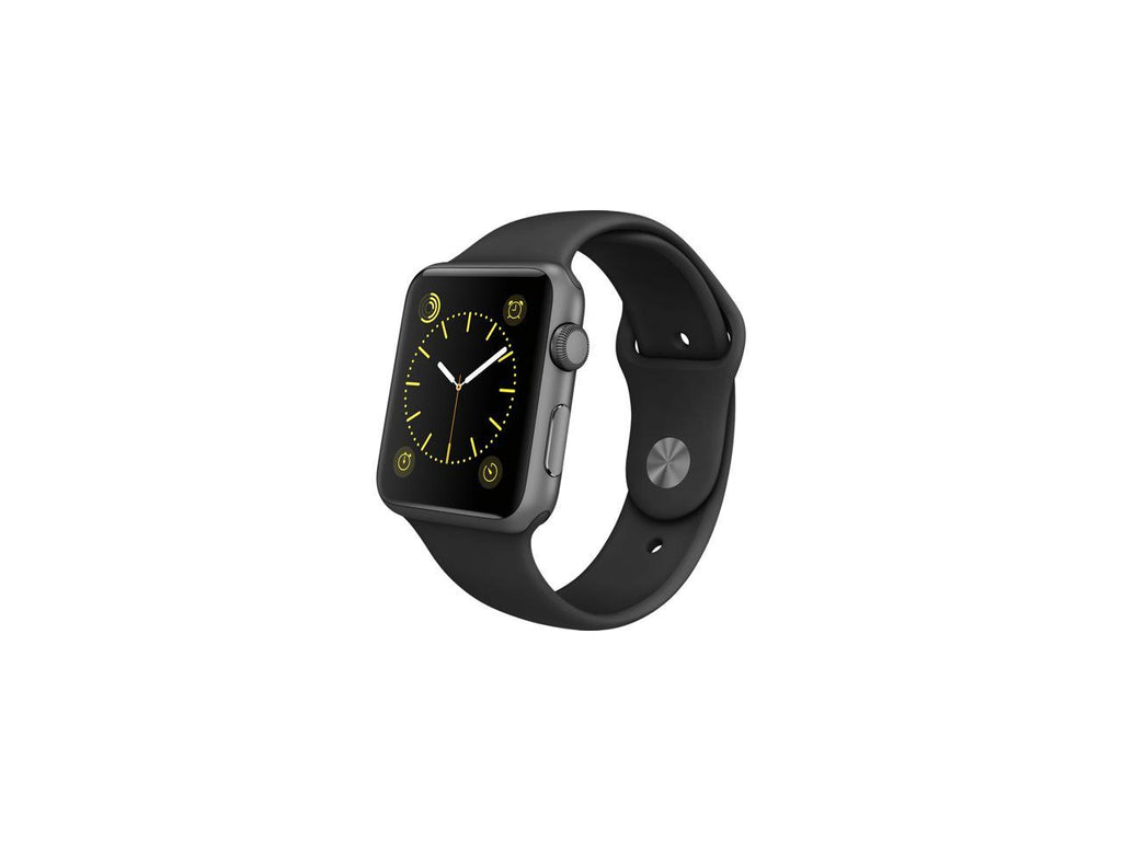 Apple Watch Sport 42mm Smartwatch (Space Gray Aluminum Case, Black Sport Band)