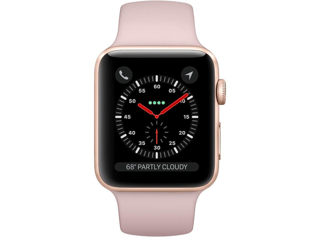 Apple Watch Series 3 GPS, 42mm MQL22LL/A Gold Aluminum Case with Pink Sand Sport Band