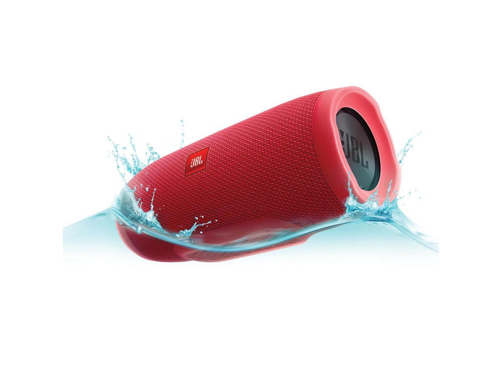 JBL Charge 3 Waterproof Portable Bluetooth Speaker (Red)