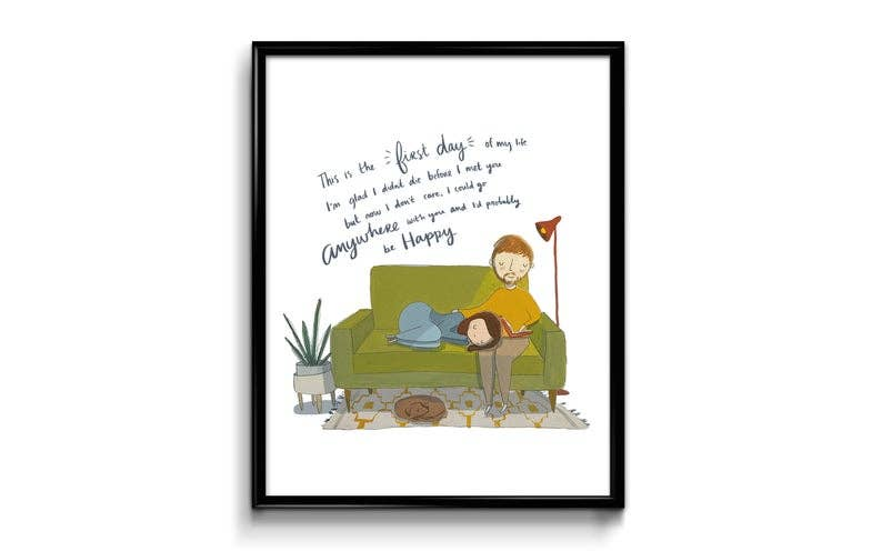 First Day Of My Life Art Print