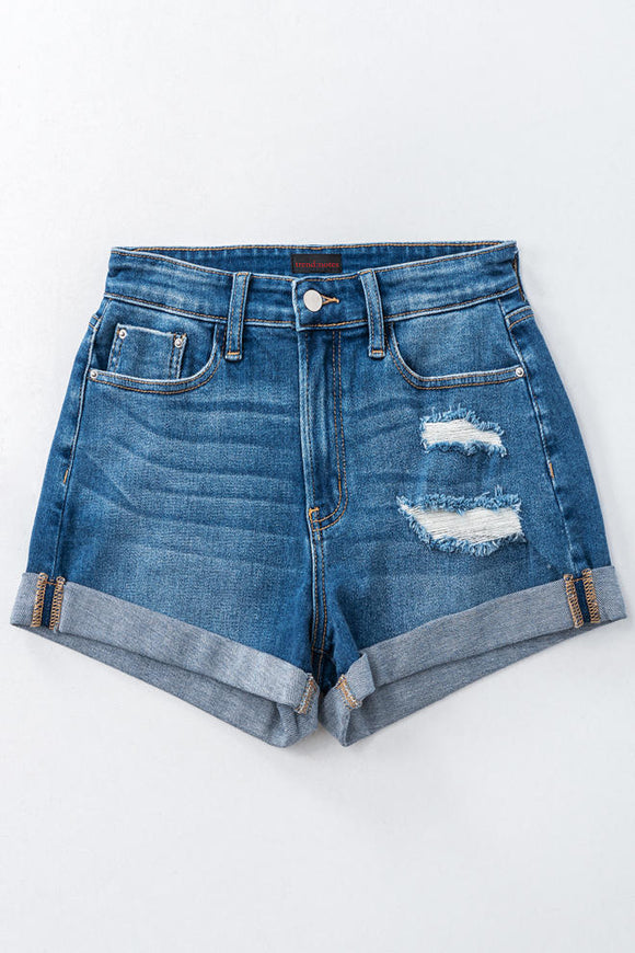 Roadtrip Distressed Denim Shorts