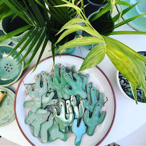 Cactus Ceramic Ornaments