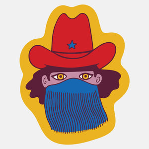 Masked Cowgirl Sticker