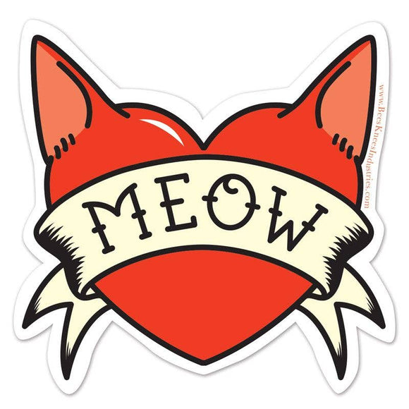 Meow Tattoo Vinyl Sticker
