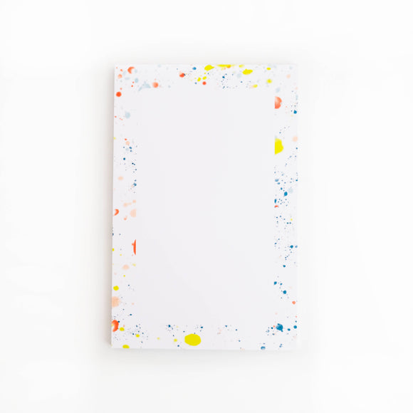 Splatter Paint Notepad