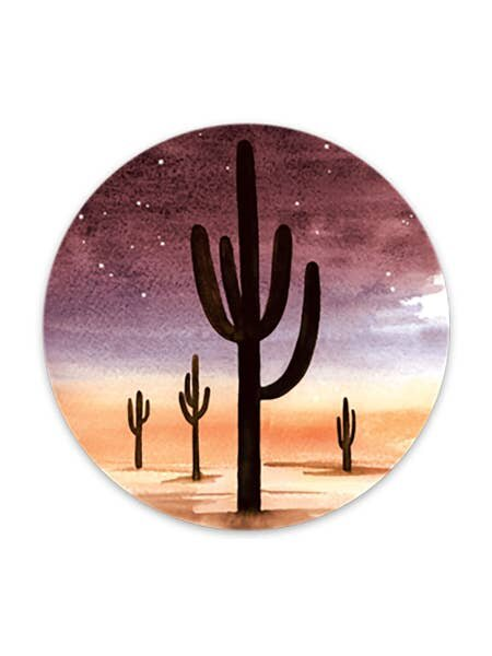 Night Cactus Sticker