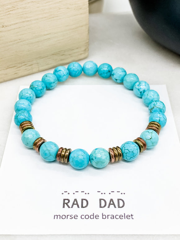 Rad Dad in Turquoise Howlite
