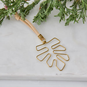 Palm Frond Christmas Ornament