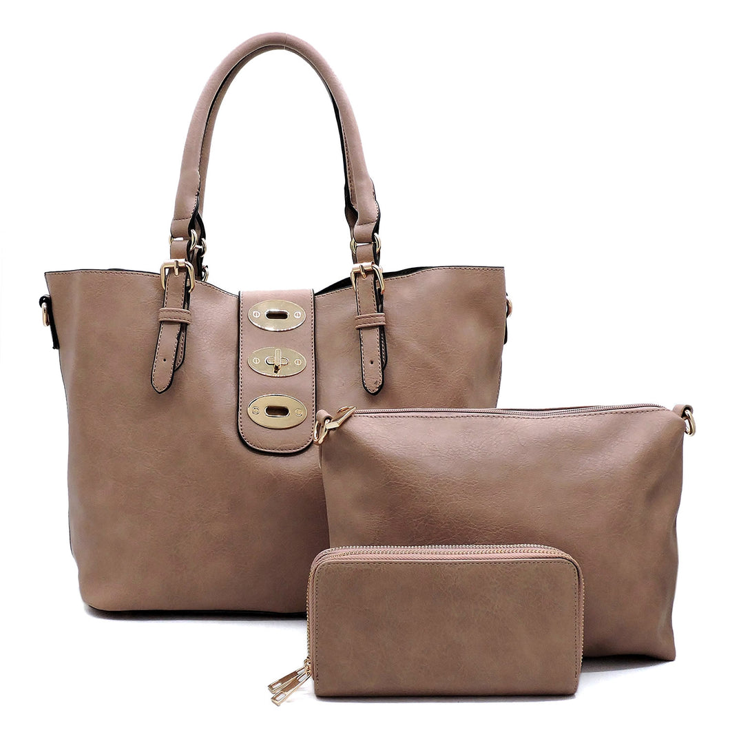 Maria 3 in 1 Satchel, Blush